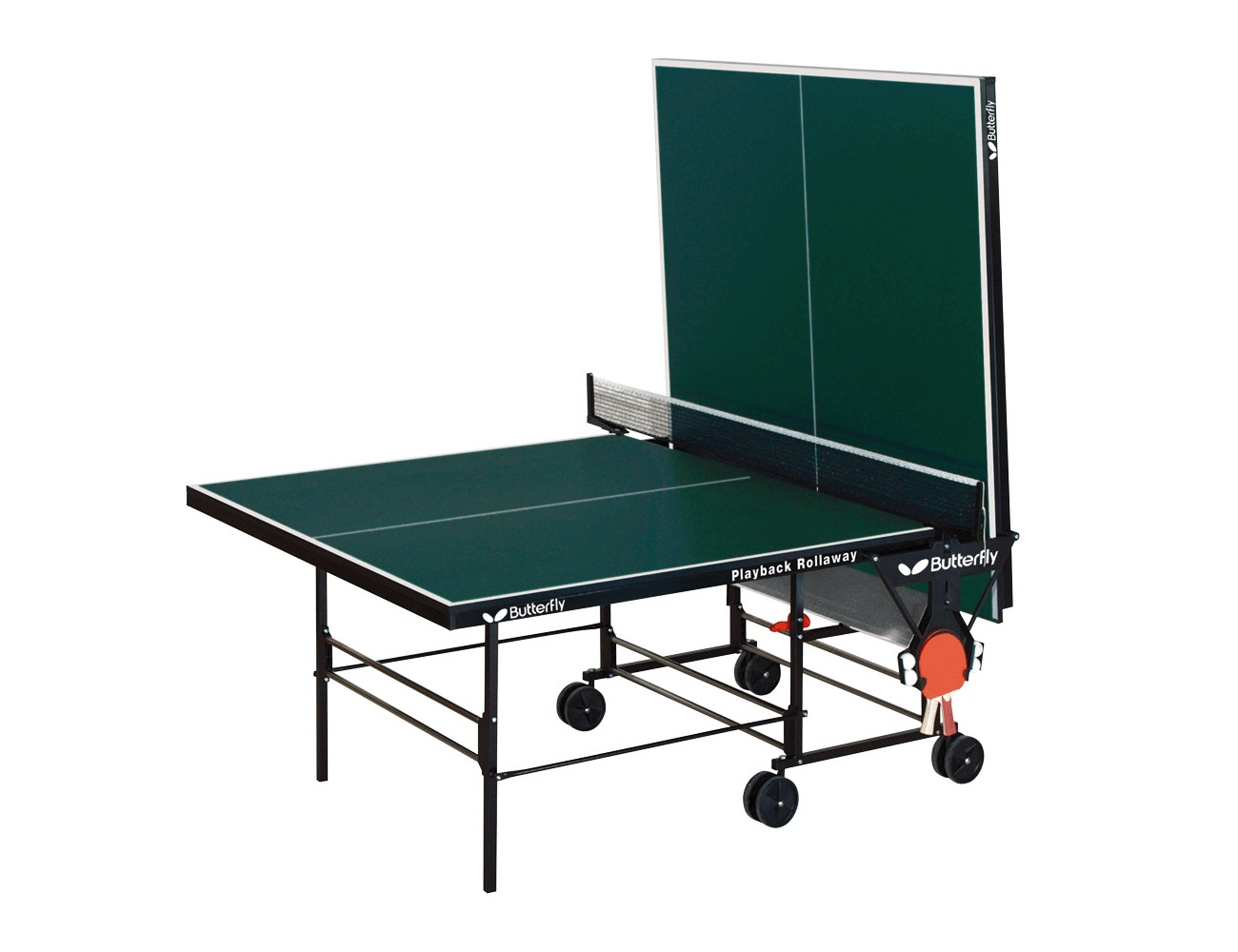 Charming Butterfly Playback Rollaway Table Tennis Table