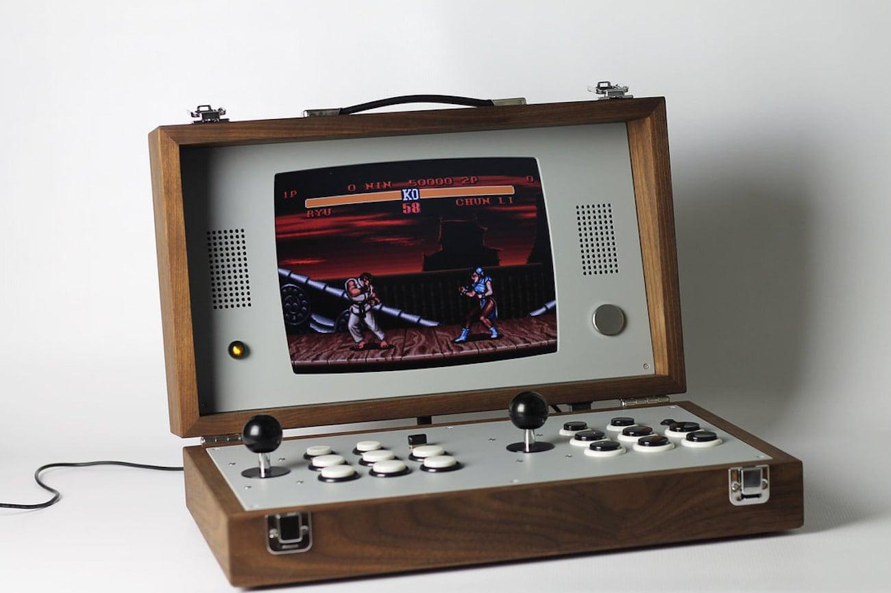 Portable Exhibition Game : Cary portable arcade gaming console gadget flow