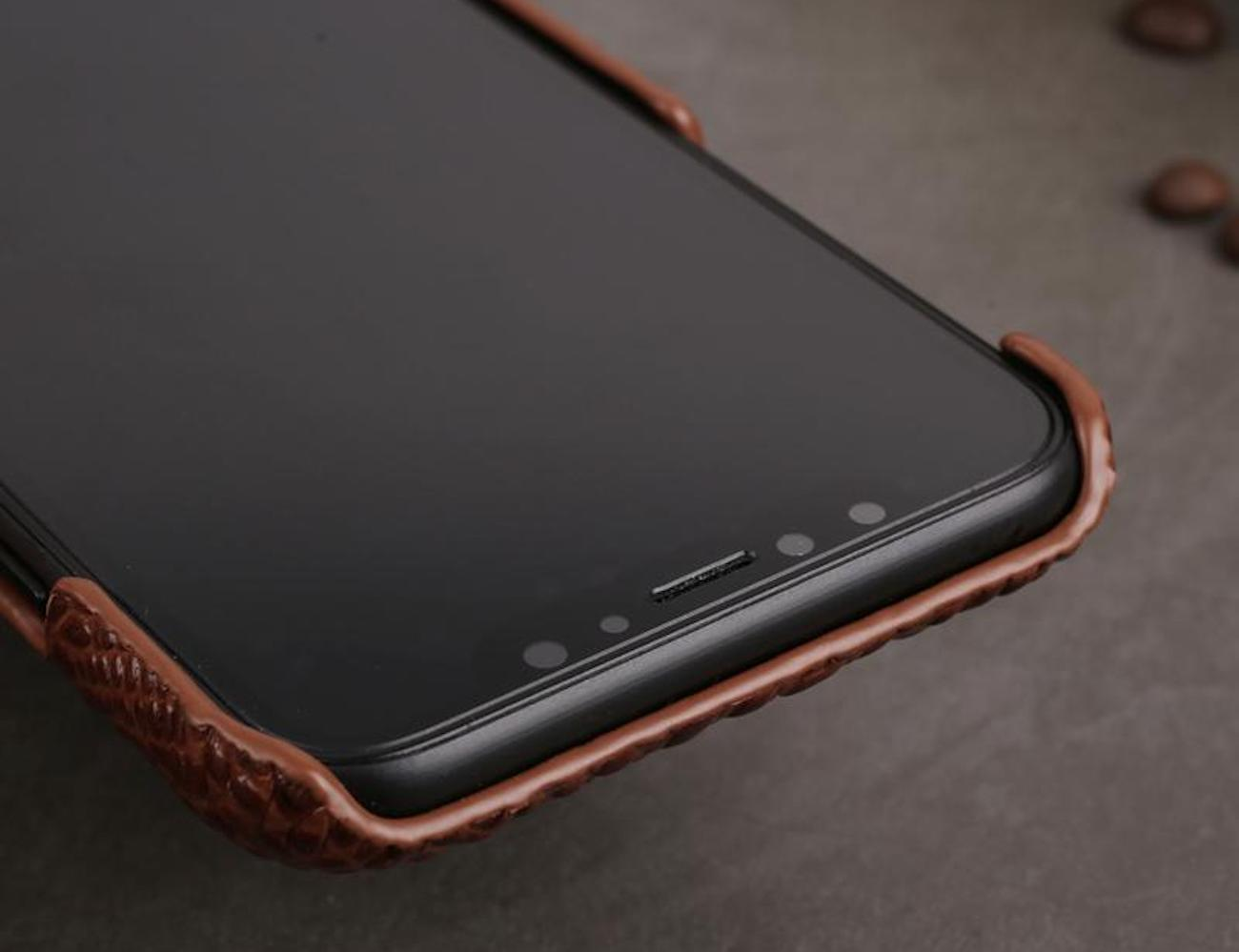 Genuine Leather 3D iPhone X Back Cover