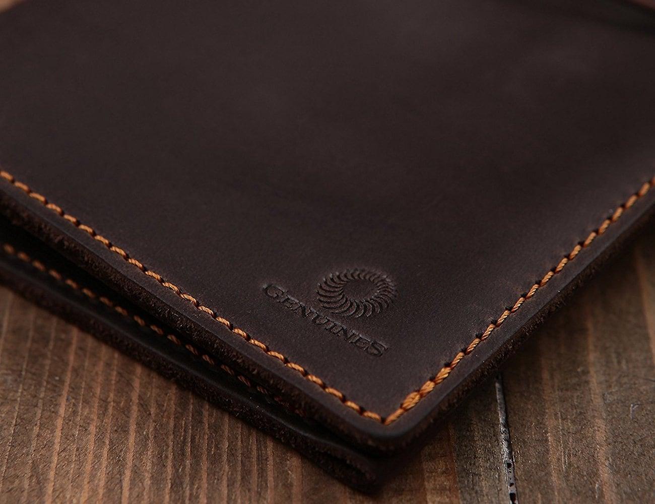 Genuines Leather Passport Holder Wallet