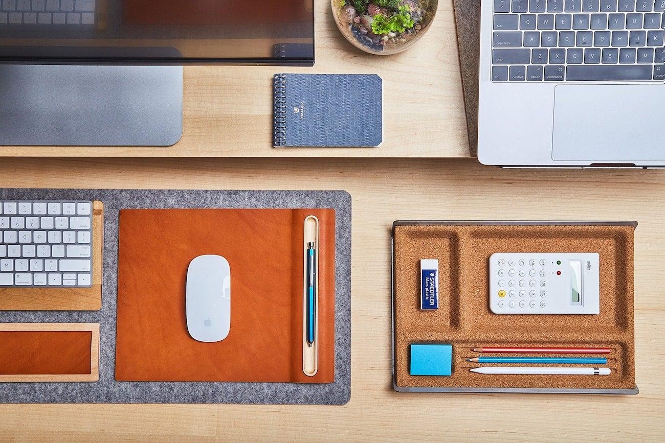 Grovemade Cork and Aluminum Desk Tray