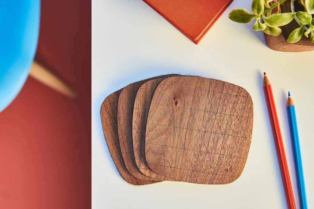 Grovemade+Walnut+Coaster+Set