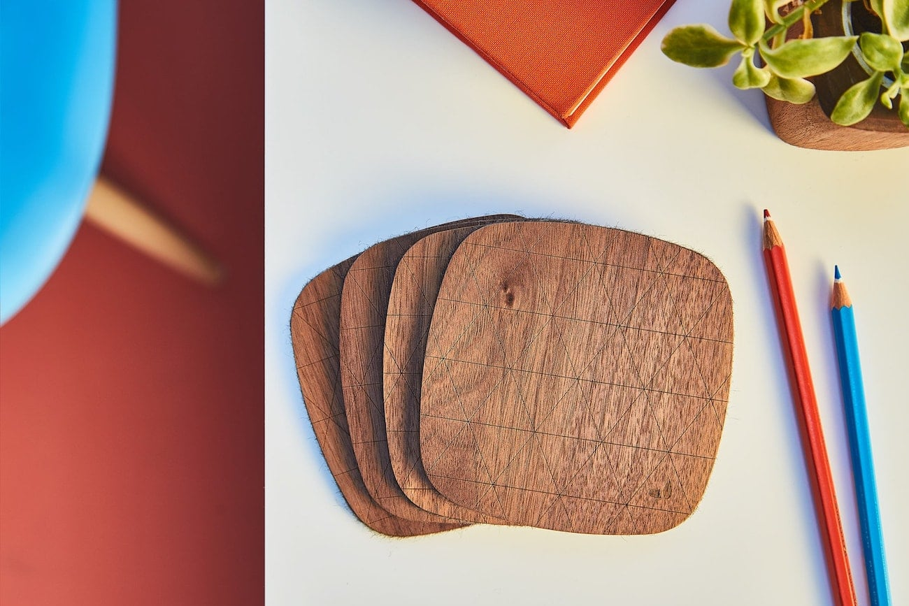 Grovemade Walnut Coaster Set