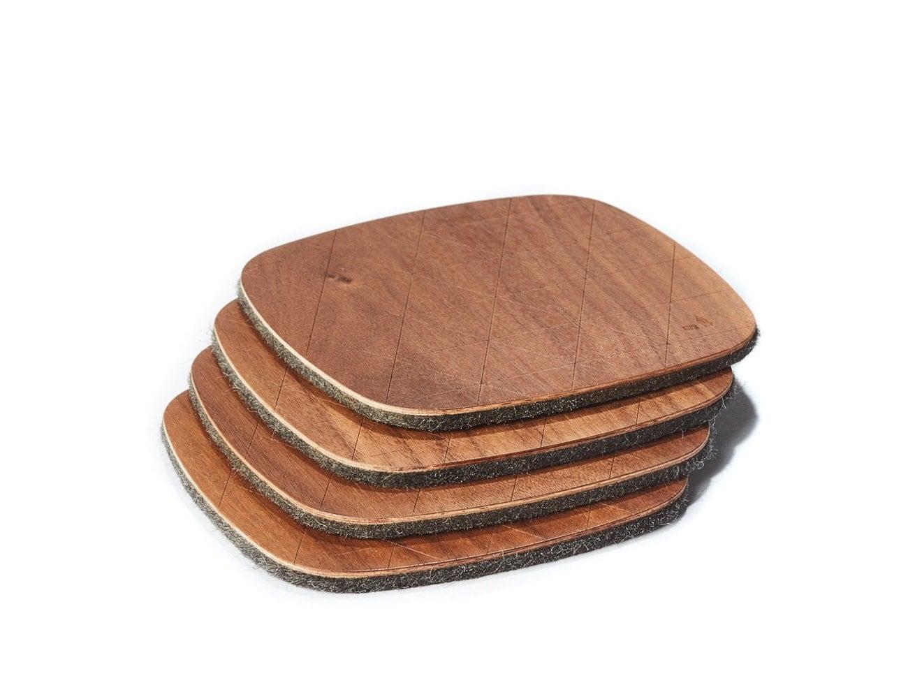 Grovemade Walnut Coaster Set