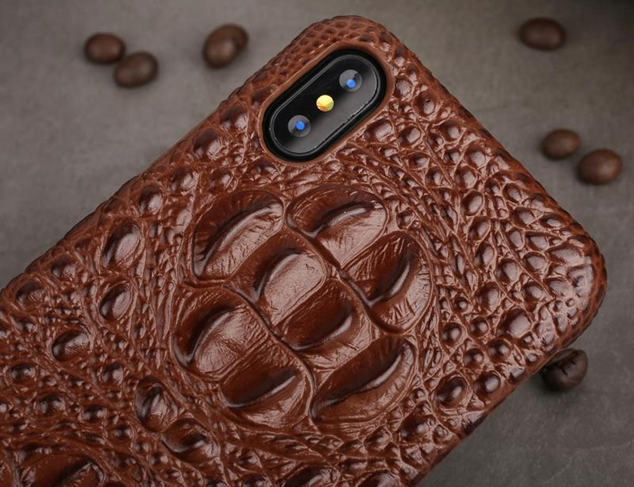 Iphonex Phone Cases: Genuine Leather 3D IPhone X Back Cover » Gadget Flow