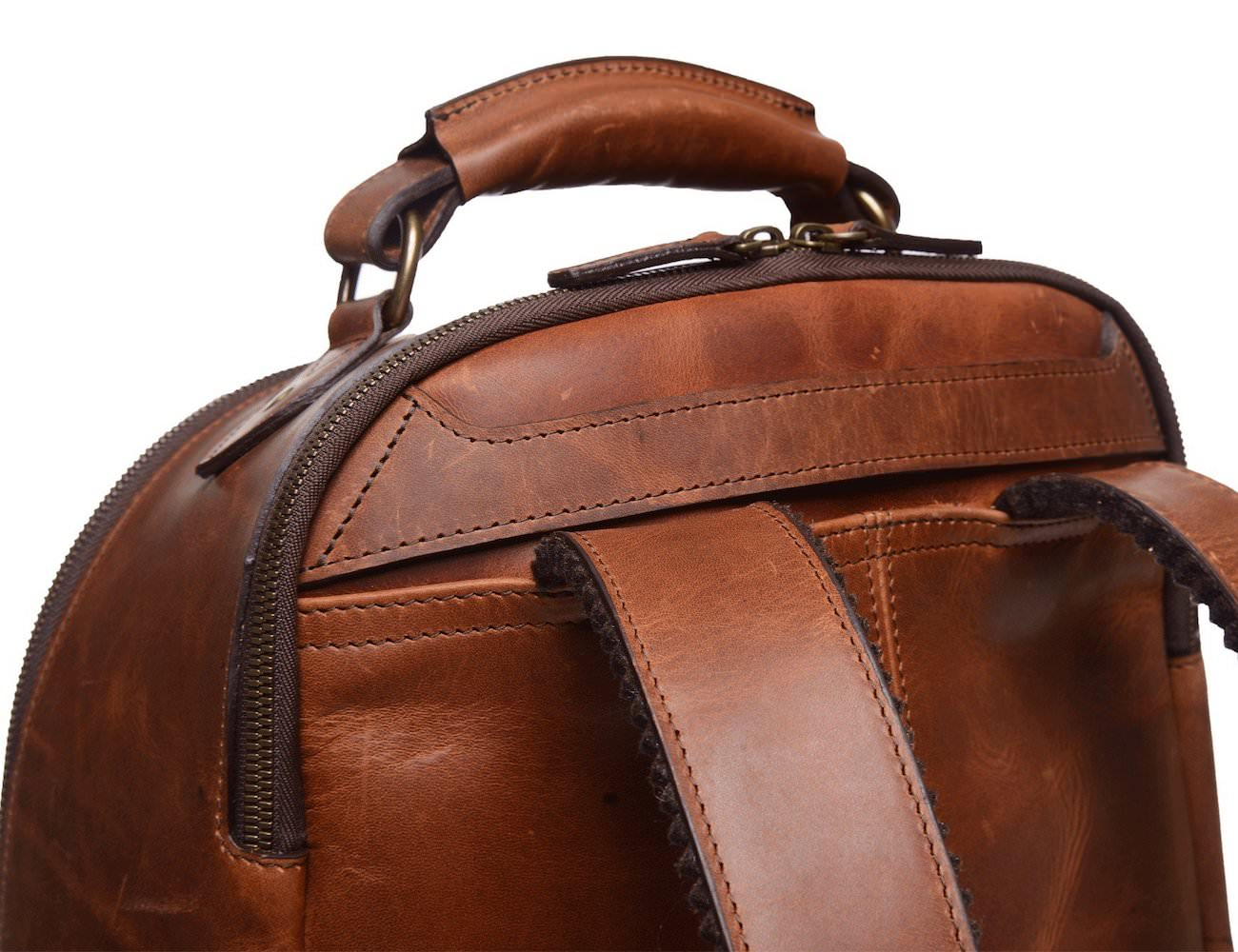 Lewis Classic Leather Luxury Backpack by Korchmar