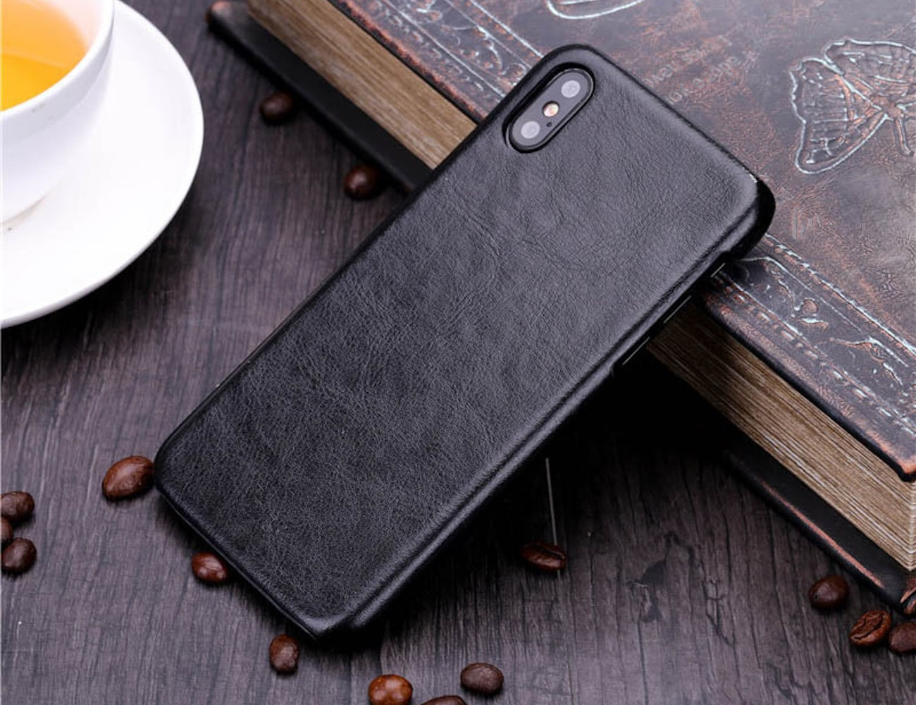 Luxury PU Leather iPhone X Case