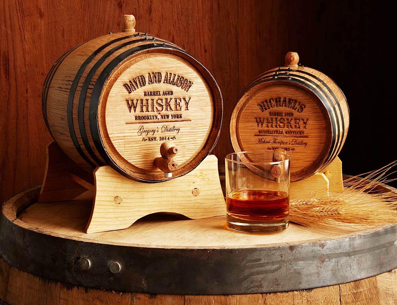 Personalized Mini Oak Whiskey Barrel