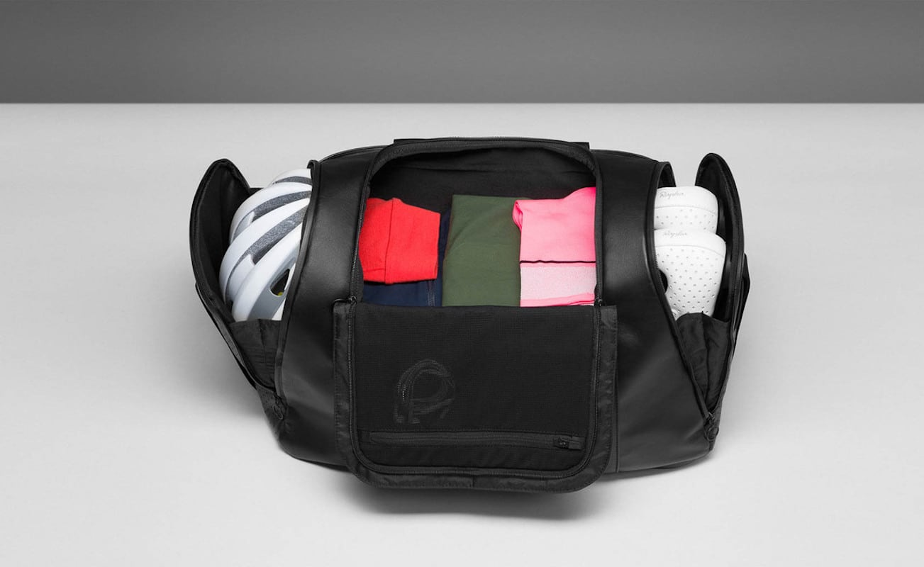 Rapha Spacious Leather Weekend Bag