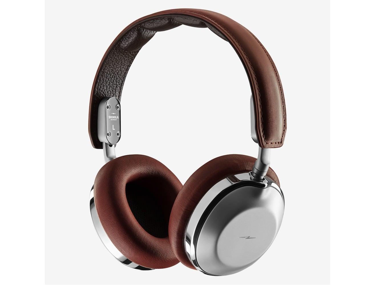 Shinola Canfield Leather Over-Ear Headphones