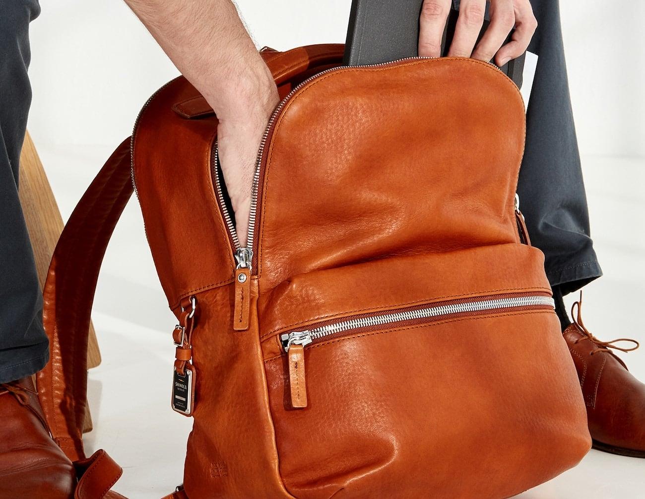 Shinola Runwell All Leather Backpack