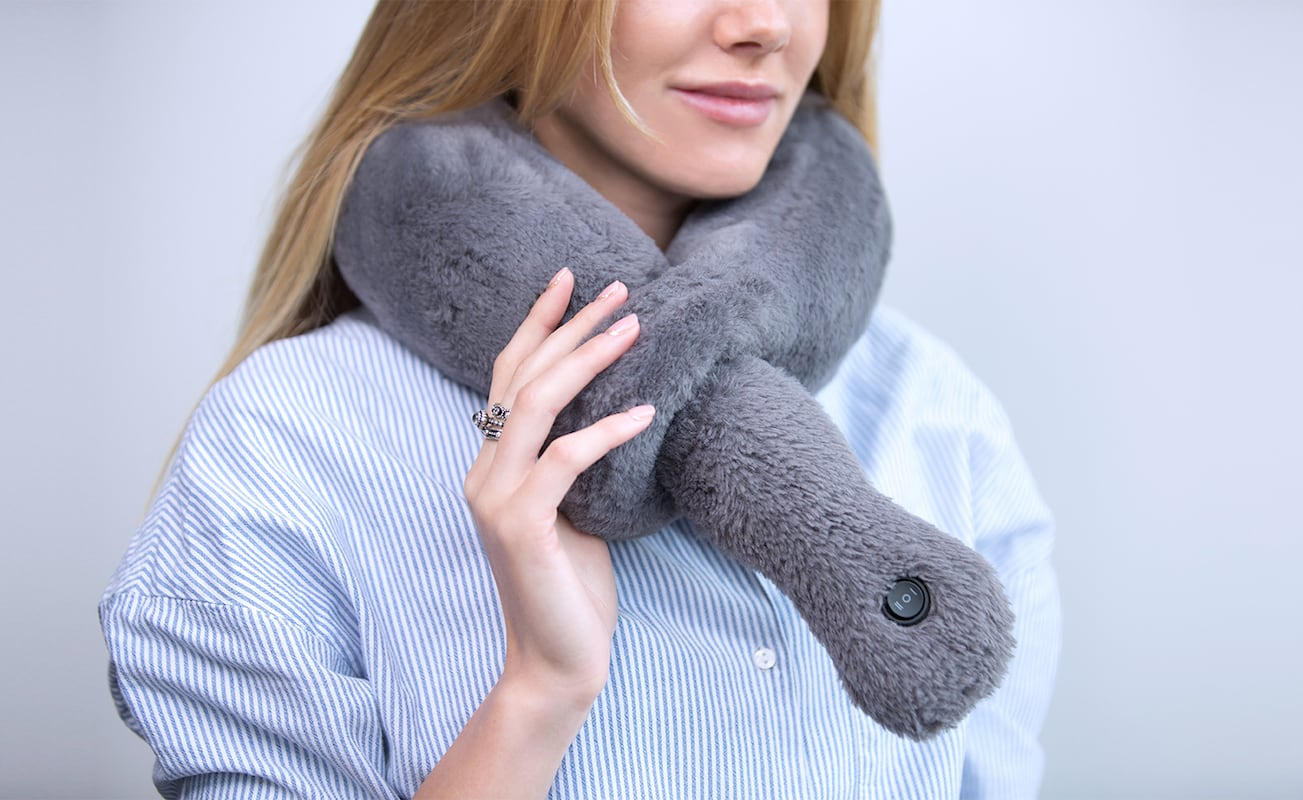 Travel Pillow with Massage & Heating Mode by Vasco