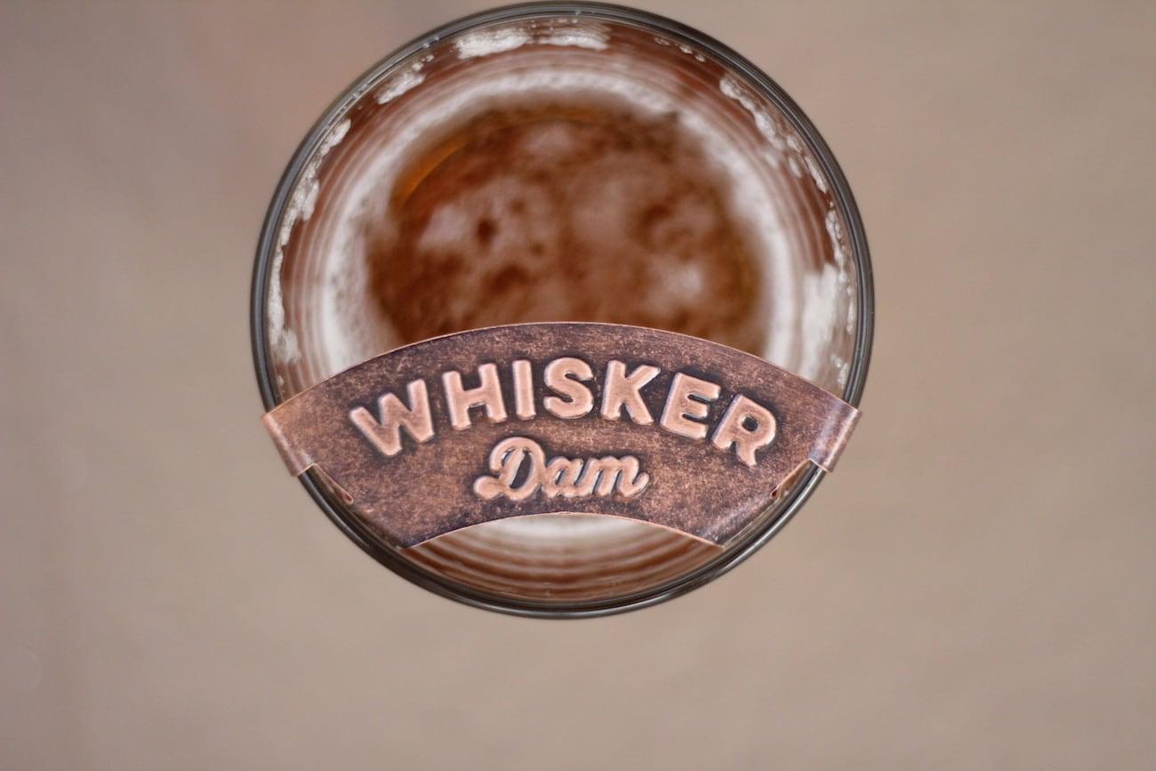 Whisker Dam Mustache Beer Foam Guard