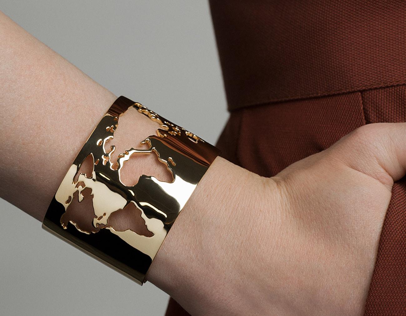 World Cuff Map Bracelet