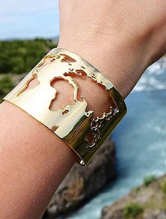 World Cuff Map Bracelet Gadget Flow