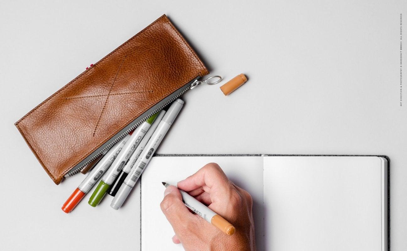 hardgraft Leather Pencil Book Case