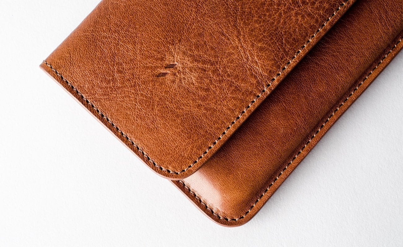hardgraft Leather Phone Cash Card Combo Wallet