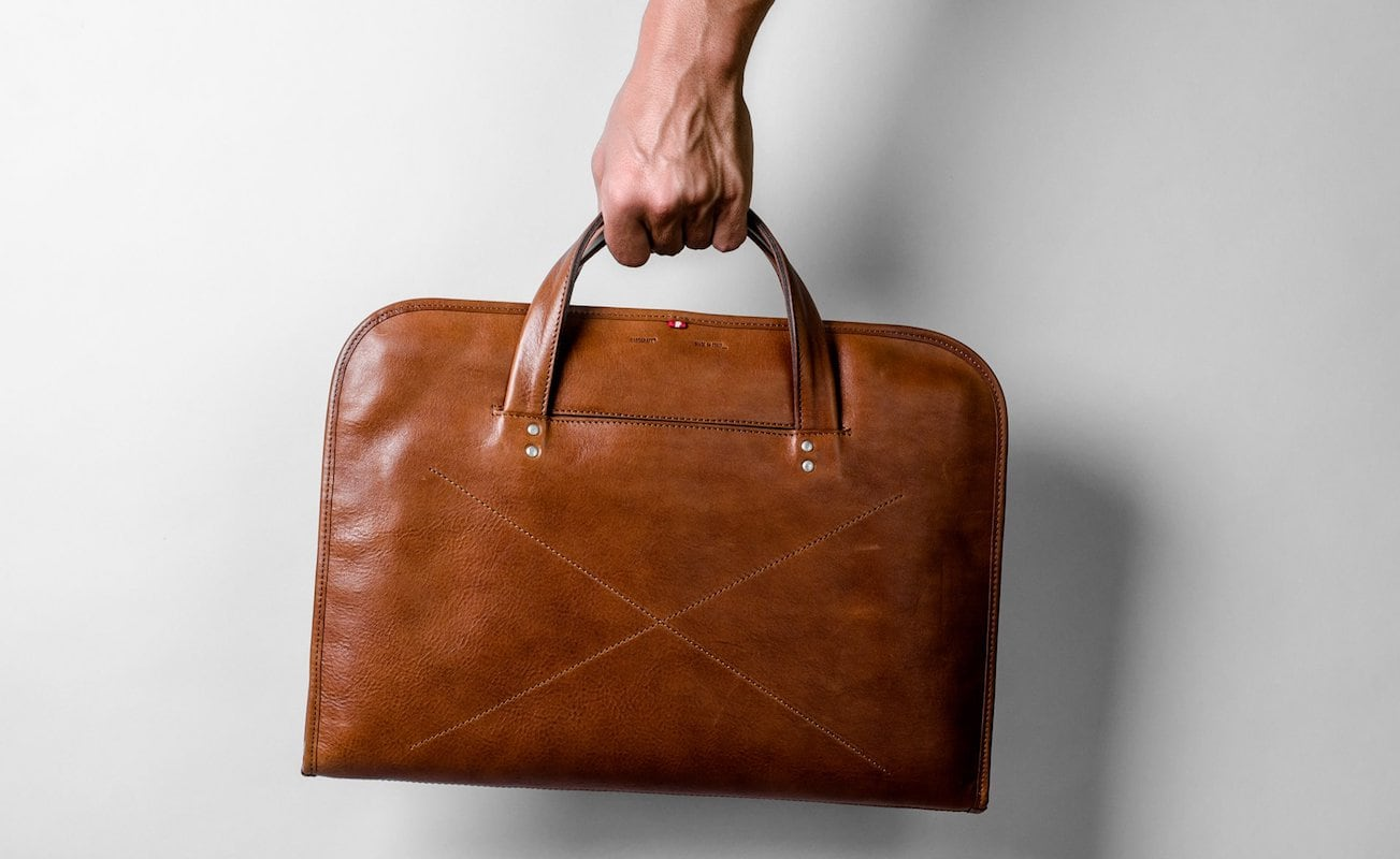 Hardgraft+Wool+And+Leather+Home+Briefcase