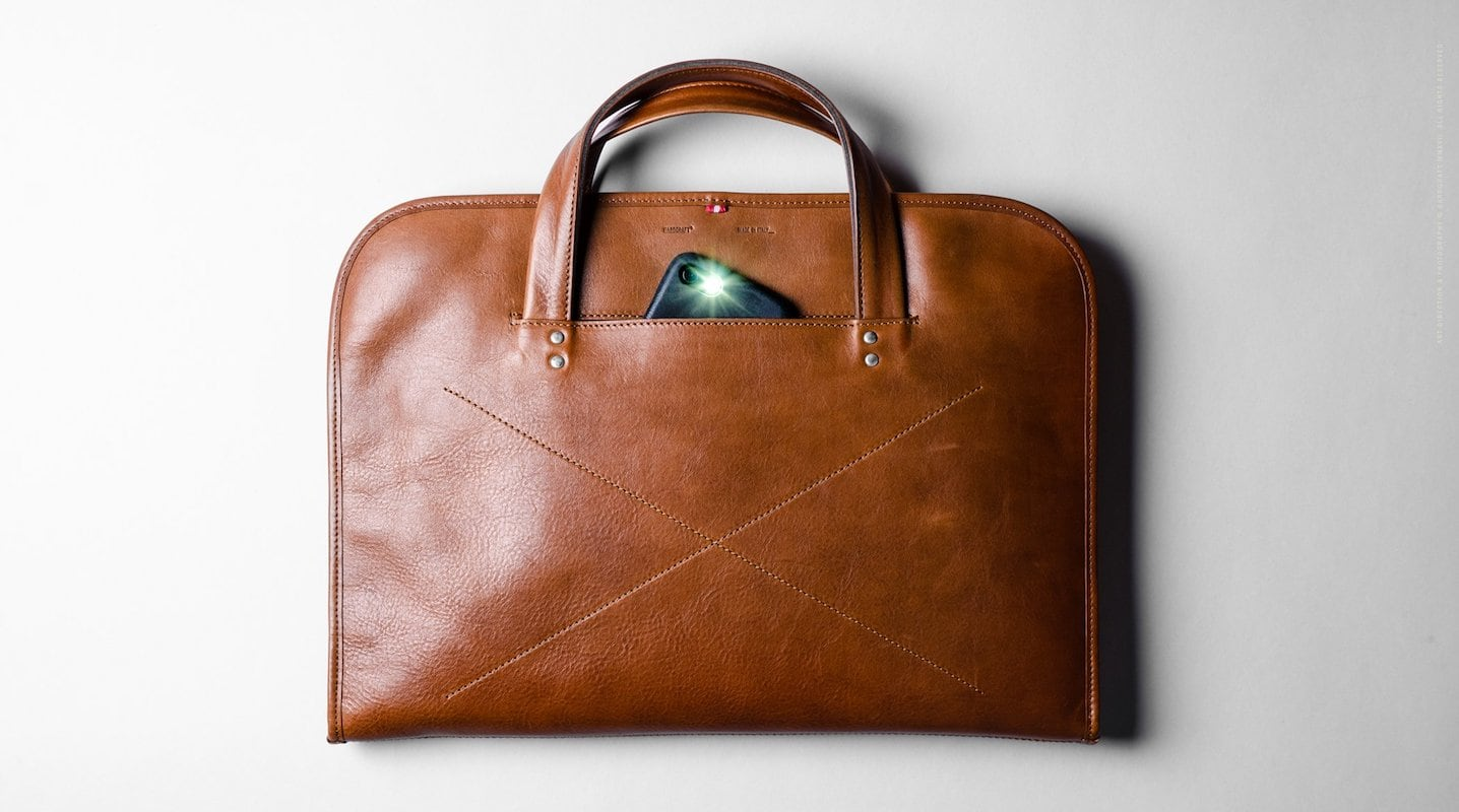 hardgraft Wool and Leather Home Briefcase