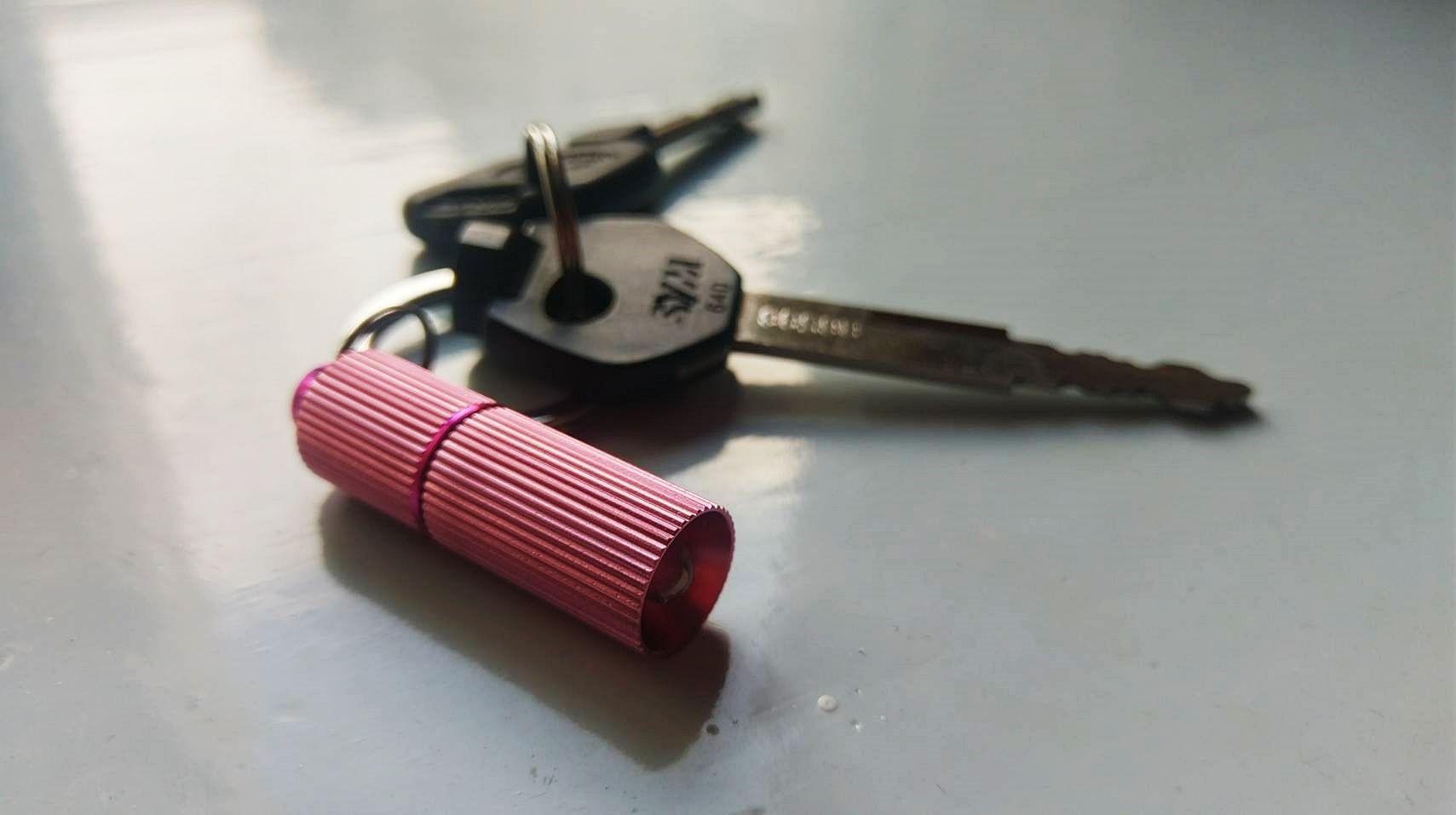 PISA Light Rechargeable Keychain Flashlight