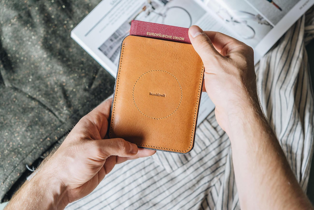 Ball&Roll Porte Leather Passport Travel Wallet