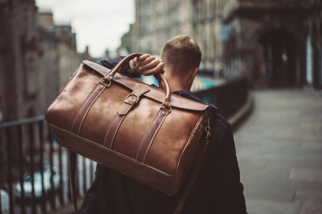 Benny+Bee+Handmade+Leather+Duffle+Bag