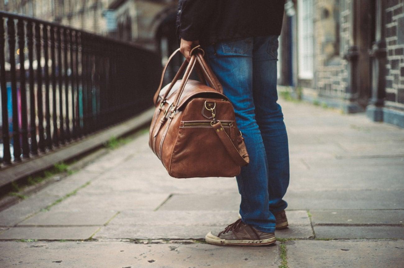Benny Bee Handmade Leather Duffle Bag