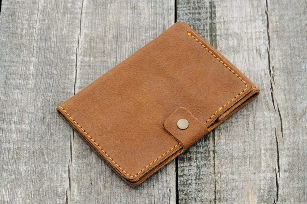 Black Brier Custom Leather Passport Holder