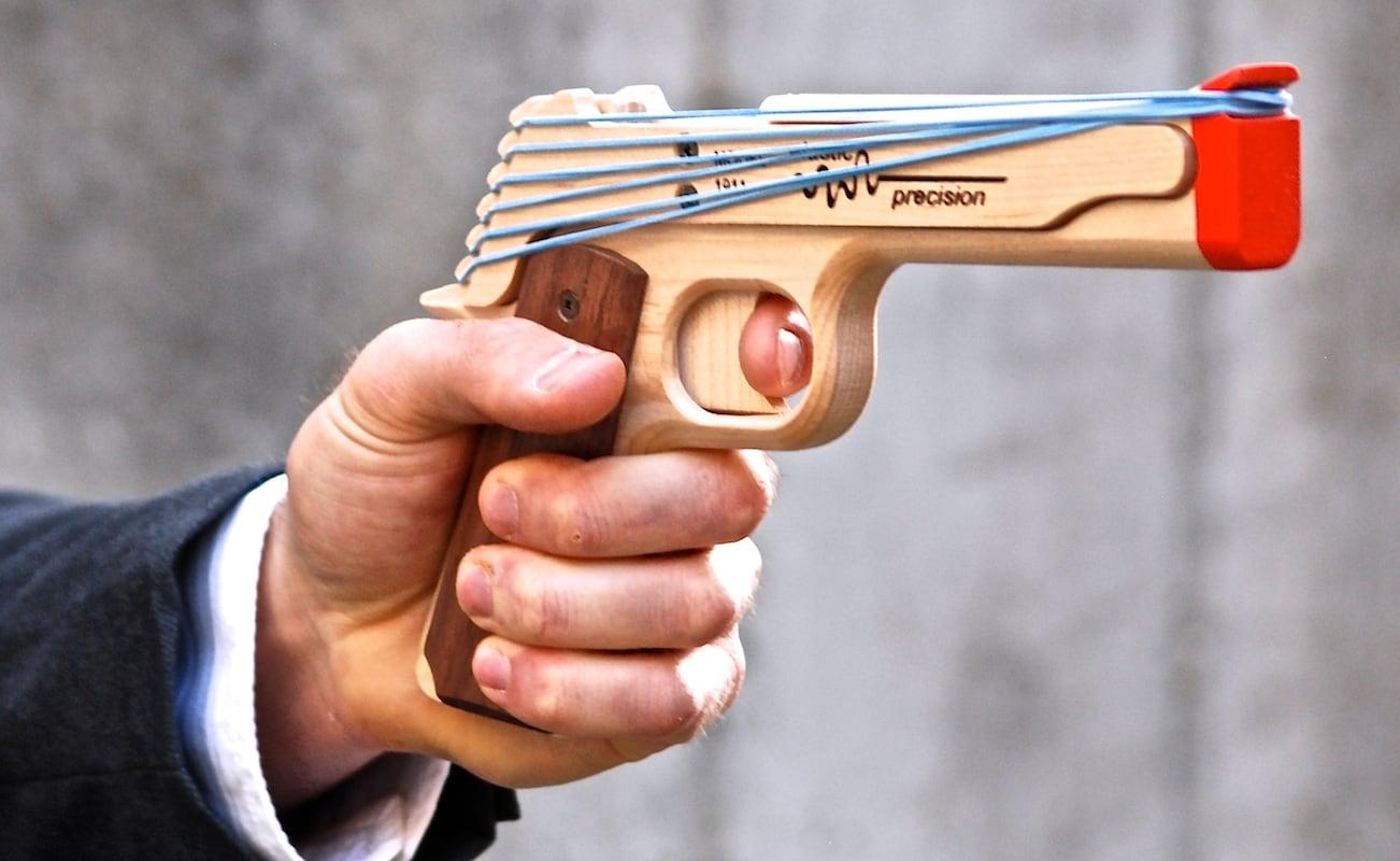 The Elastic Precision Rubber Band Guns Will Make You Feel Like Bond