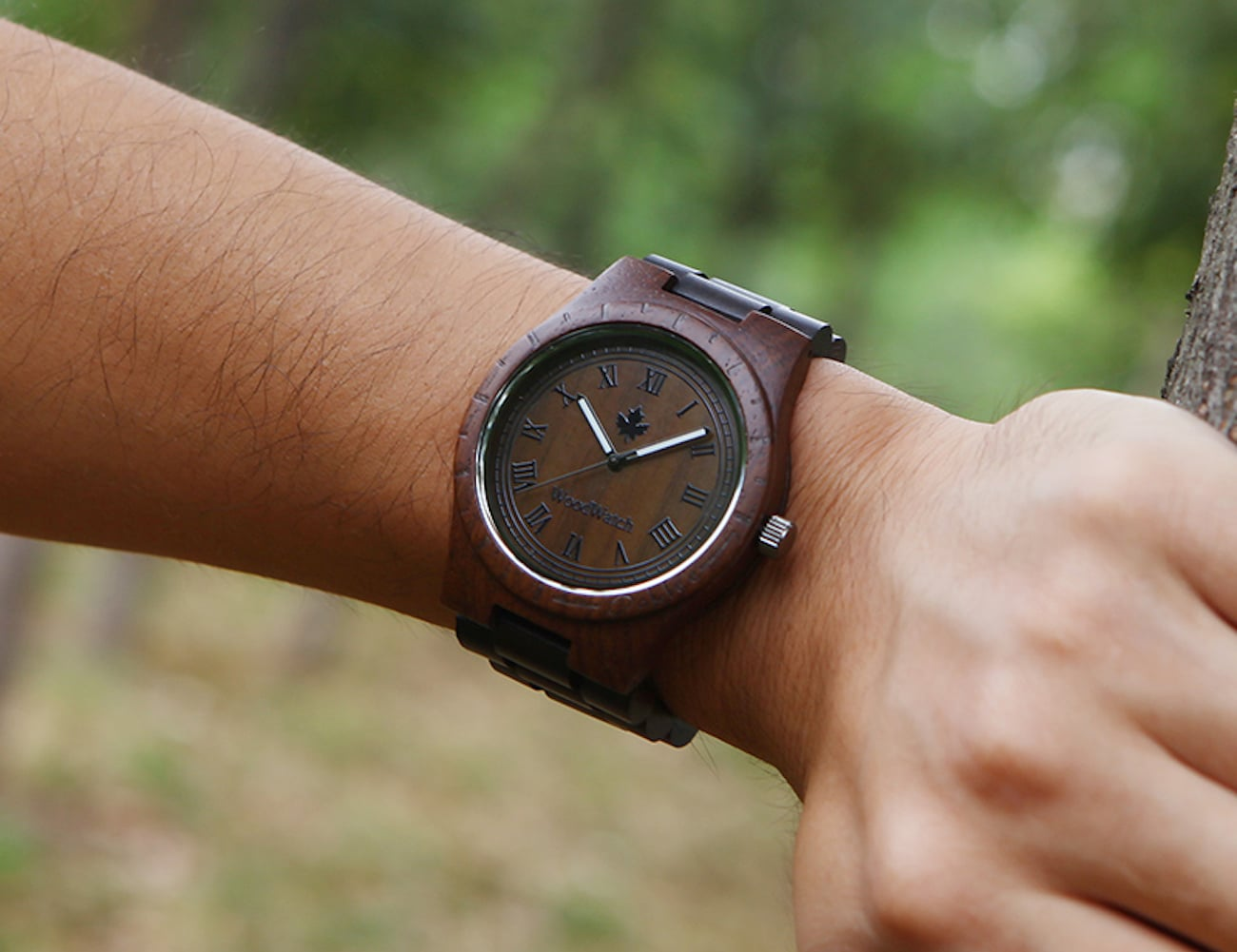 Fancy Wood Grain Wristwatch
