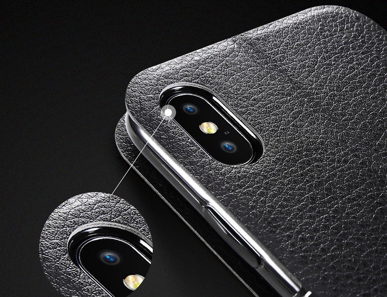 Fashionable Flip Wallet iPhone X Case