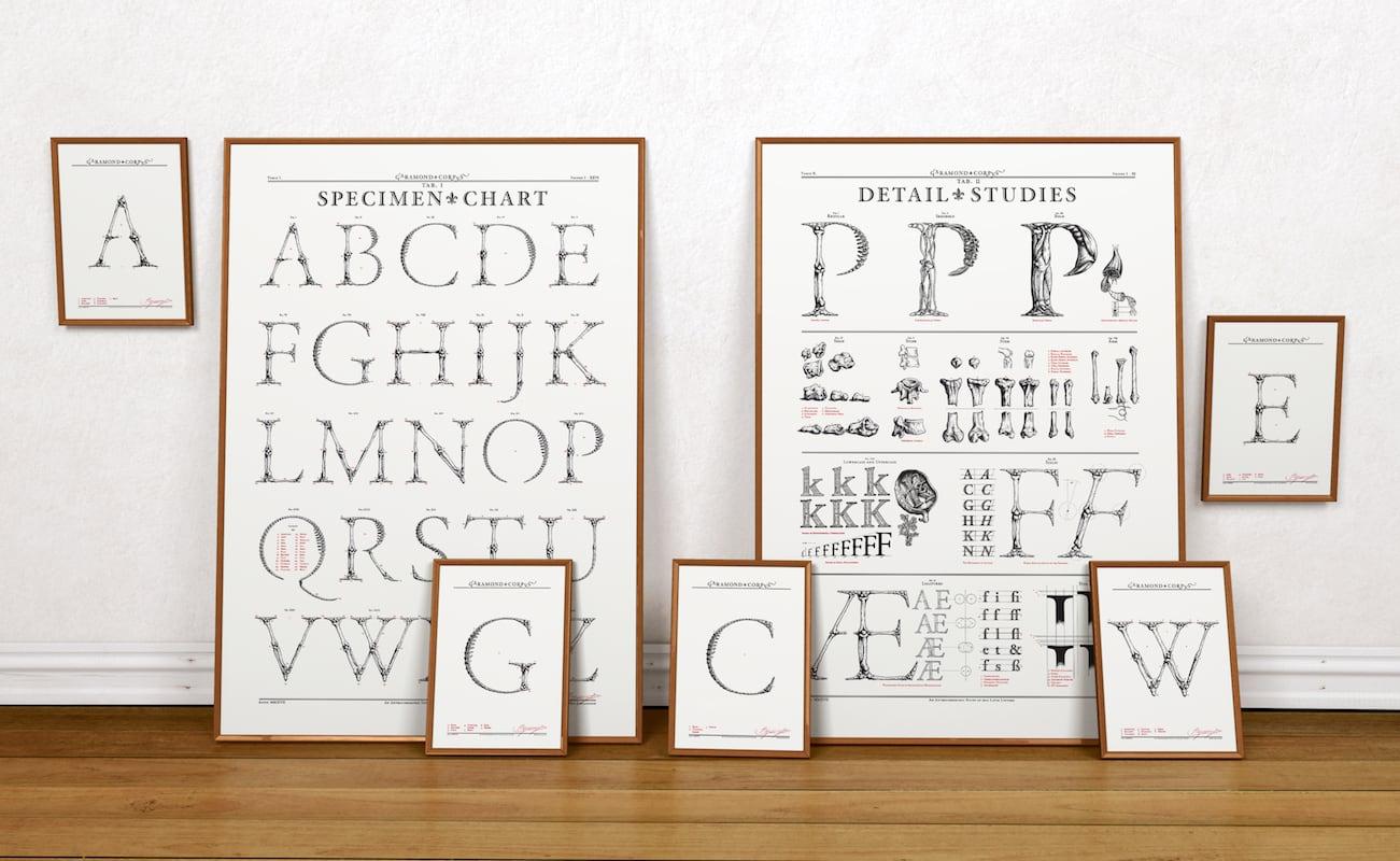 Garamond+Corpvs+Handmade+Screen-Printed+Posters