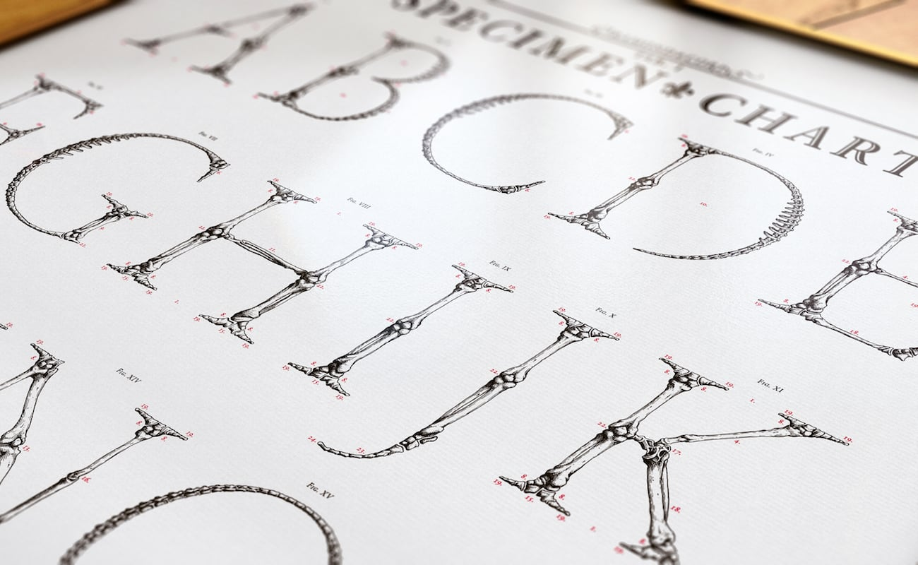Garamond Corpvs Handmade Screen-Printed Posters