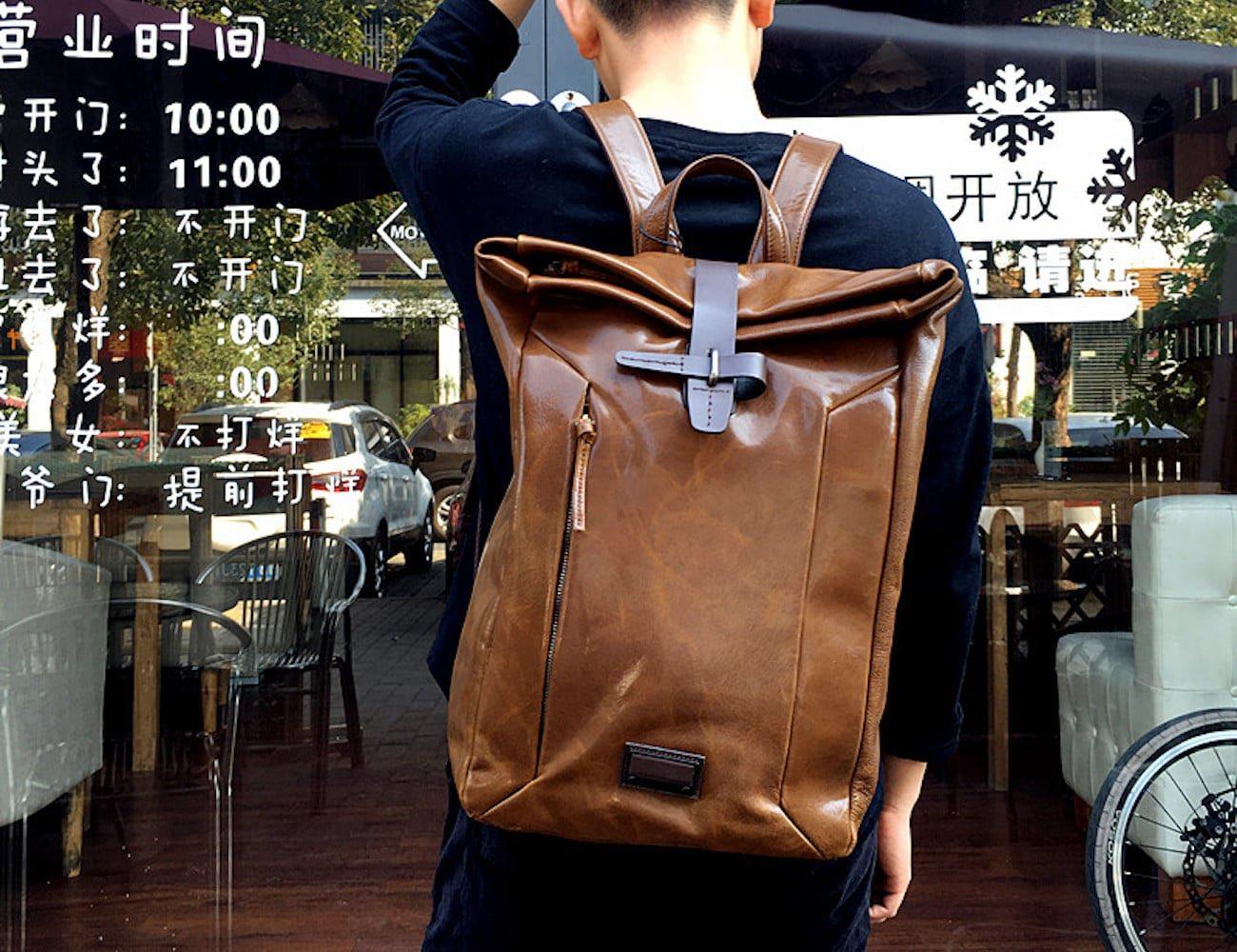 Genuine Leather Fancy Weekender Backpack