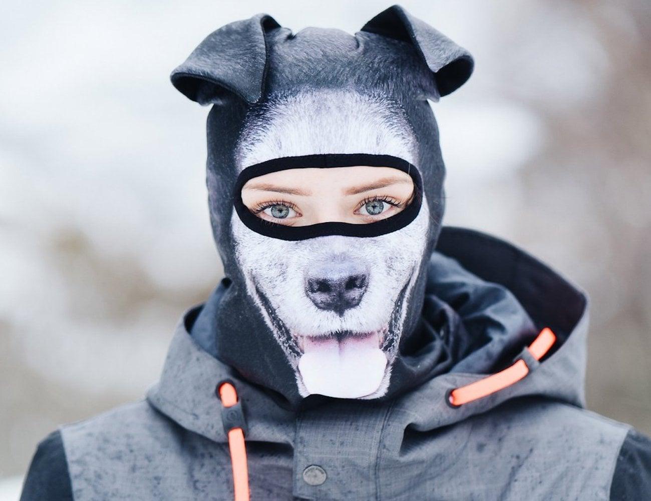 Jiusy 3D Animal Face Ski Mask