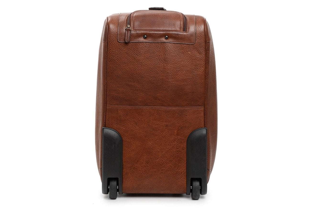 Korchmar Edison Leather Wheeled Duffel Bag