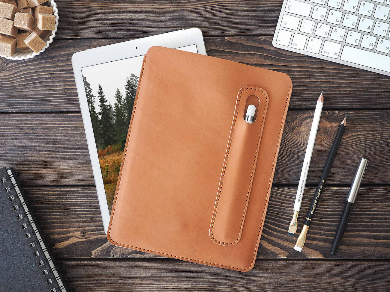 Leather iPad Pro Apple Pencil Case
