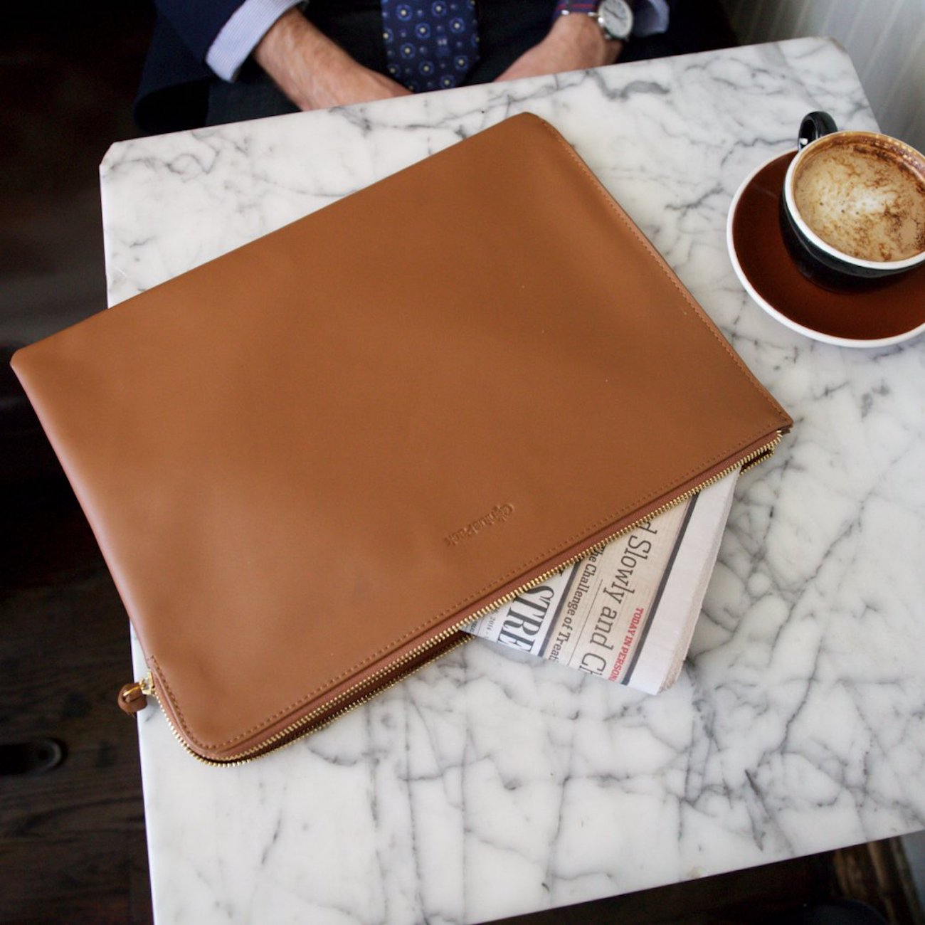 Luxe Leather Messenger Bag