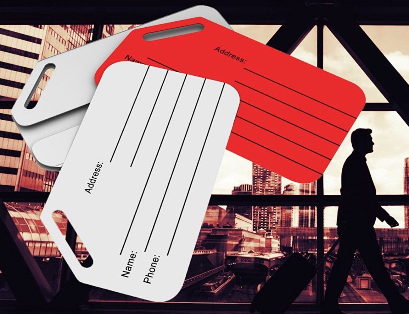 Stainless Steel Privacy Luggage Tag