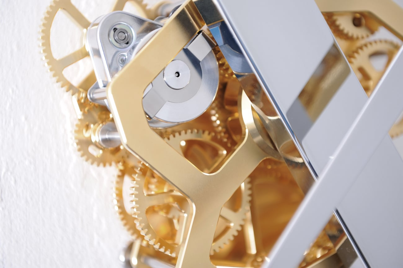 Sander Mulder Continue Time Gold Clock