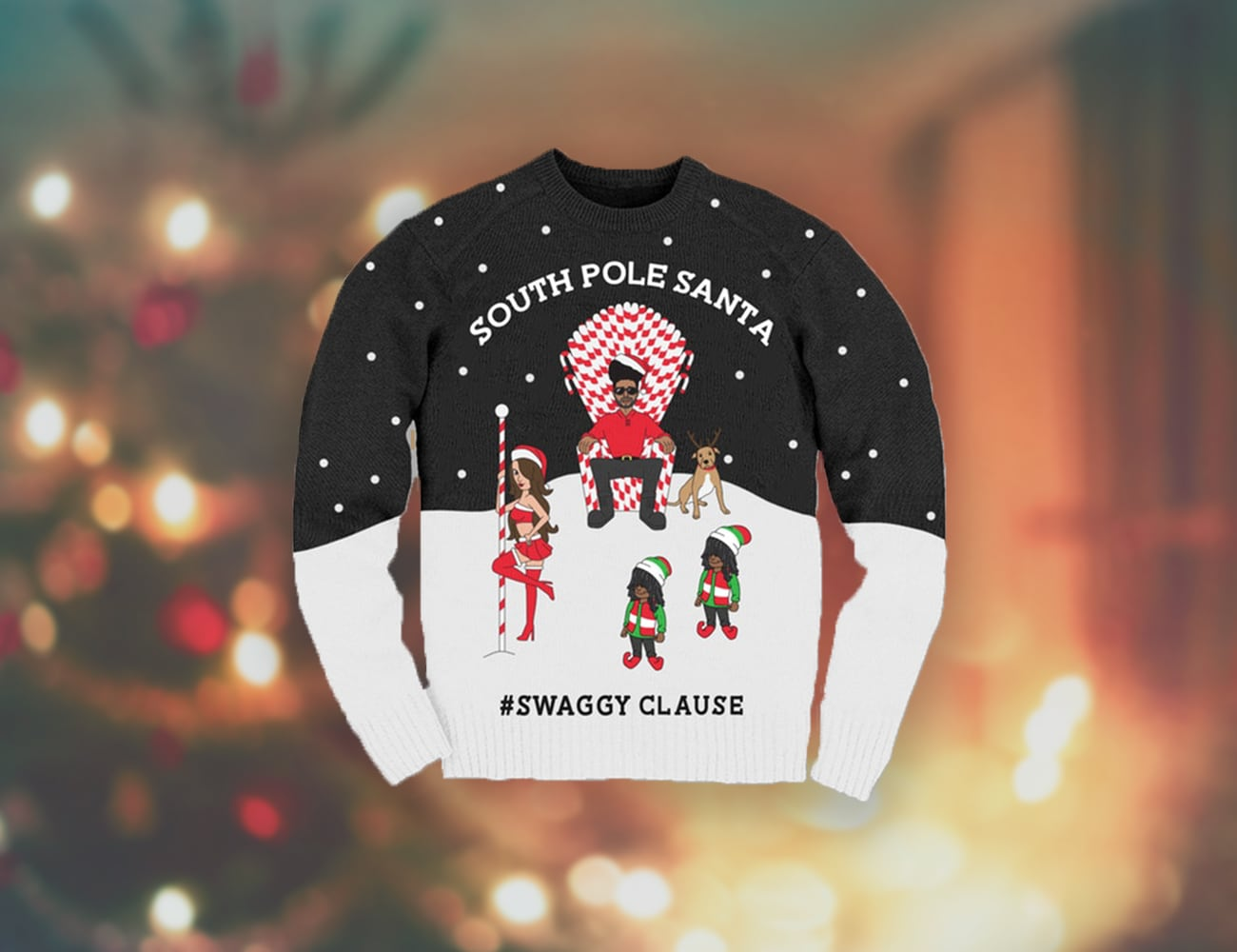 Swaggy Clause Christmas Ornaments and Apparel