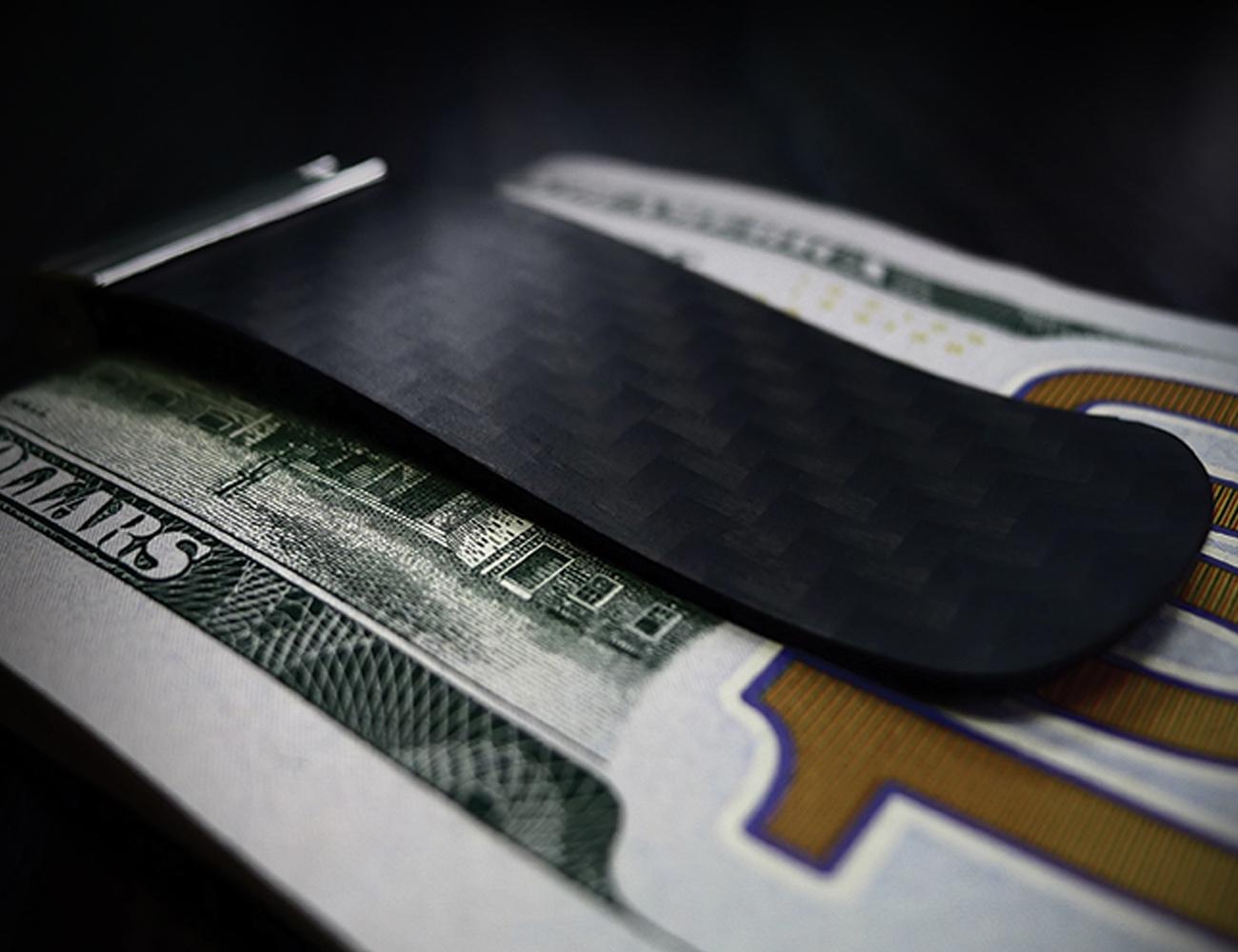 TenSion Carbon Fiber SMP Technology Money Clip