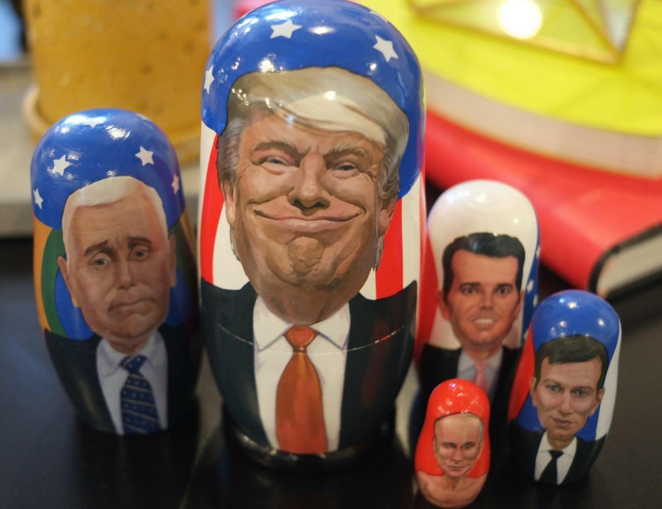 Trump Russian Matryoshka Nesting Dolls