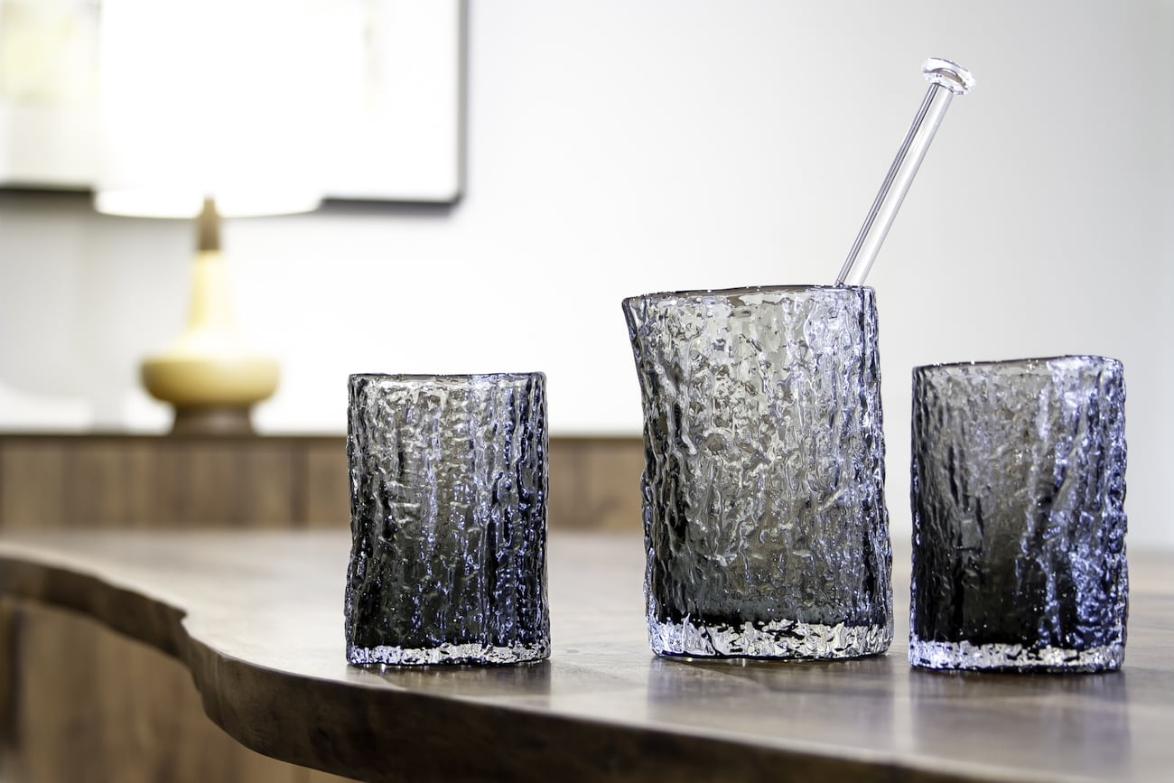 Vitreluxe Tree Stump Cocktail Set
