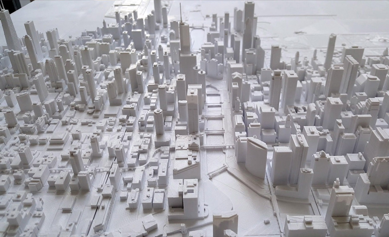 Microscape Chicago Collection 3D-Printed Cityscape Models