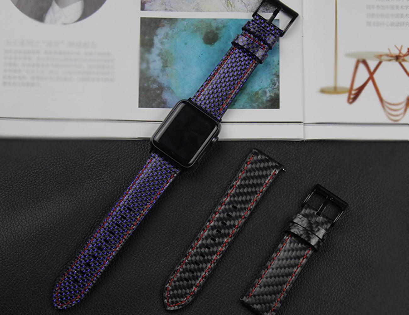 Carbon Fiber Apple Watch Straps