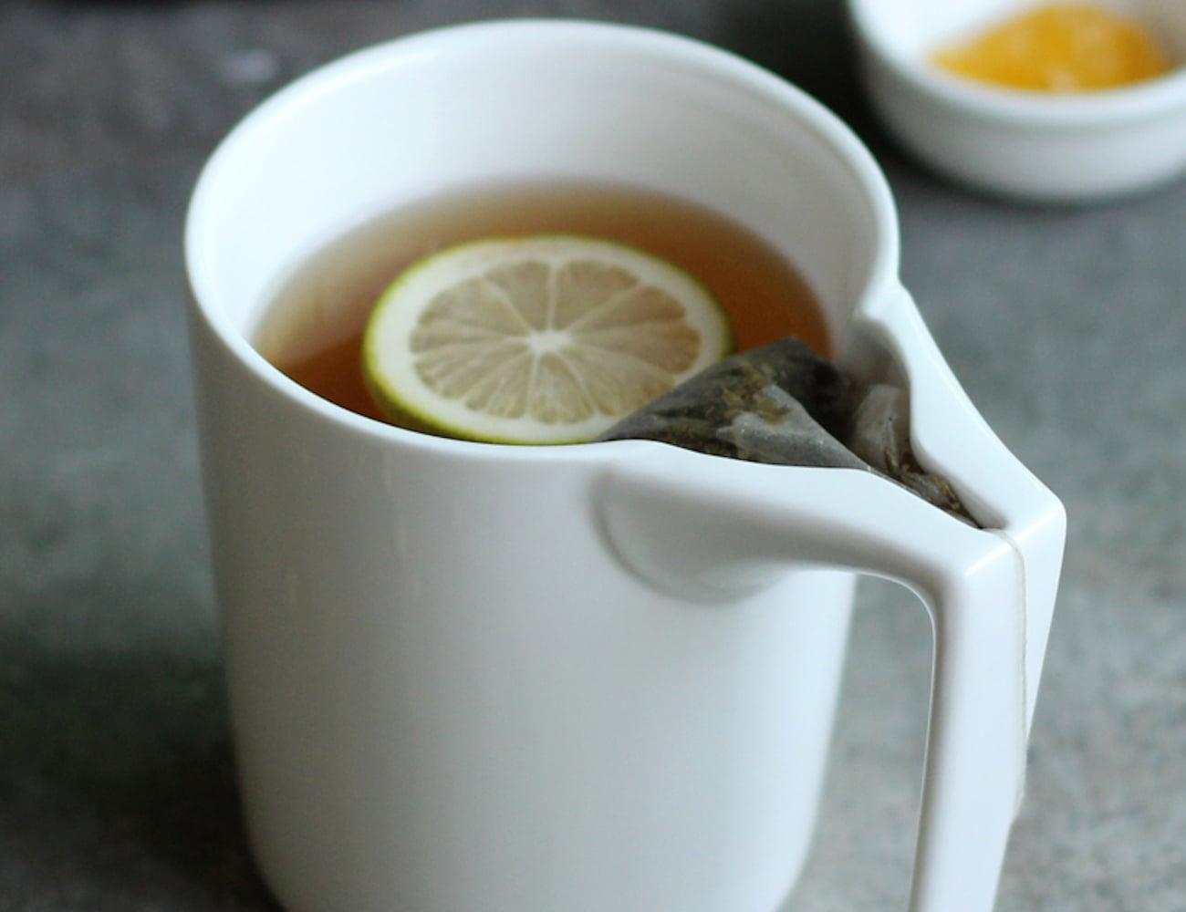 Ceramic Tea Bag Holding Mug