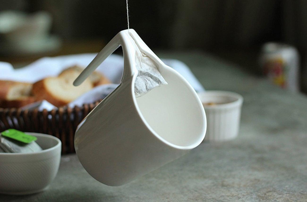 Ceramic Mug with Tea Bag Holder
