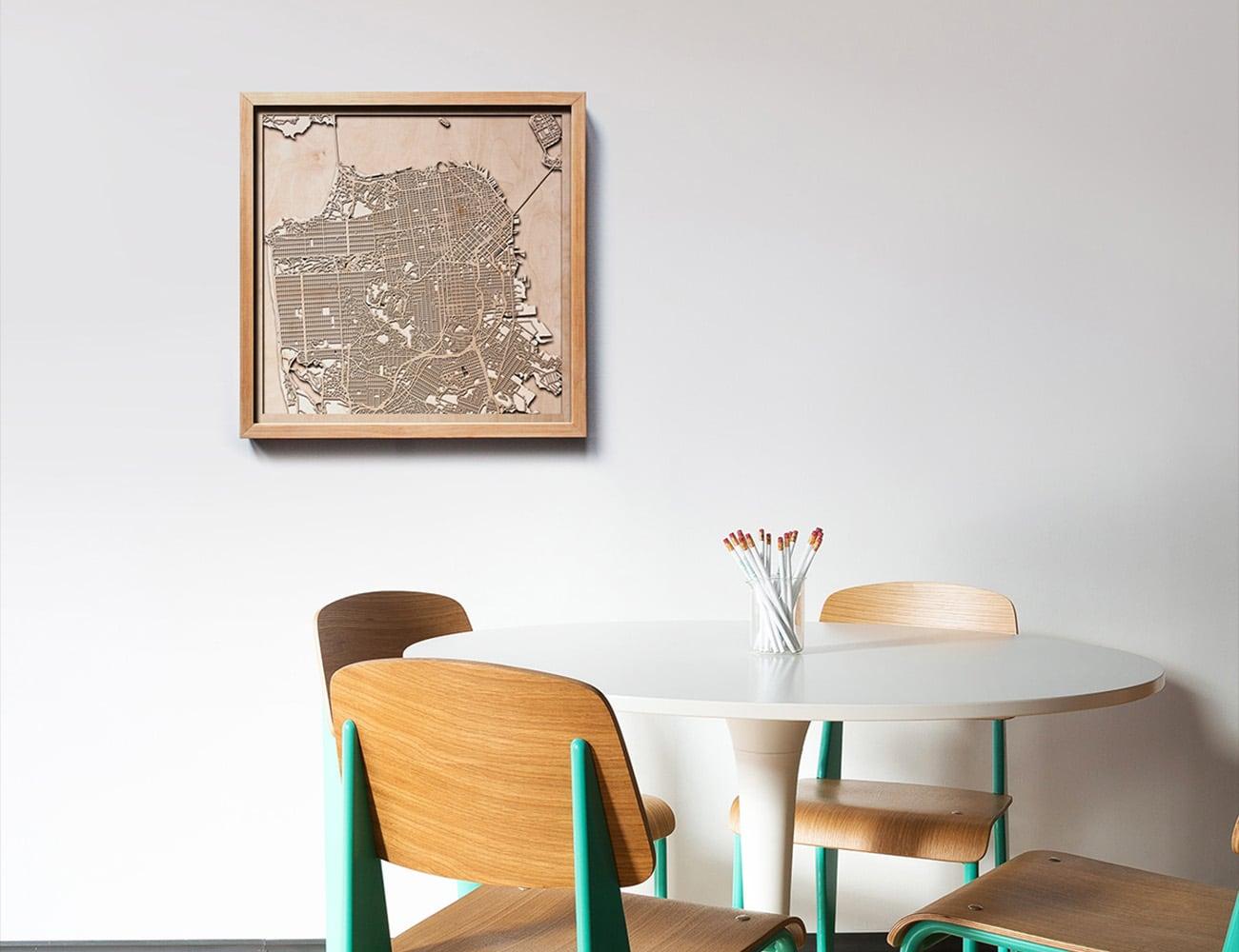 CityWood Minimal 3D Wooden Maps