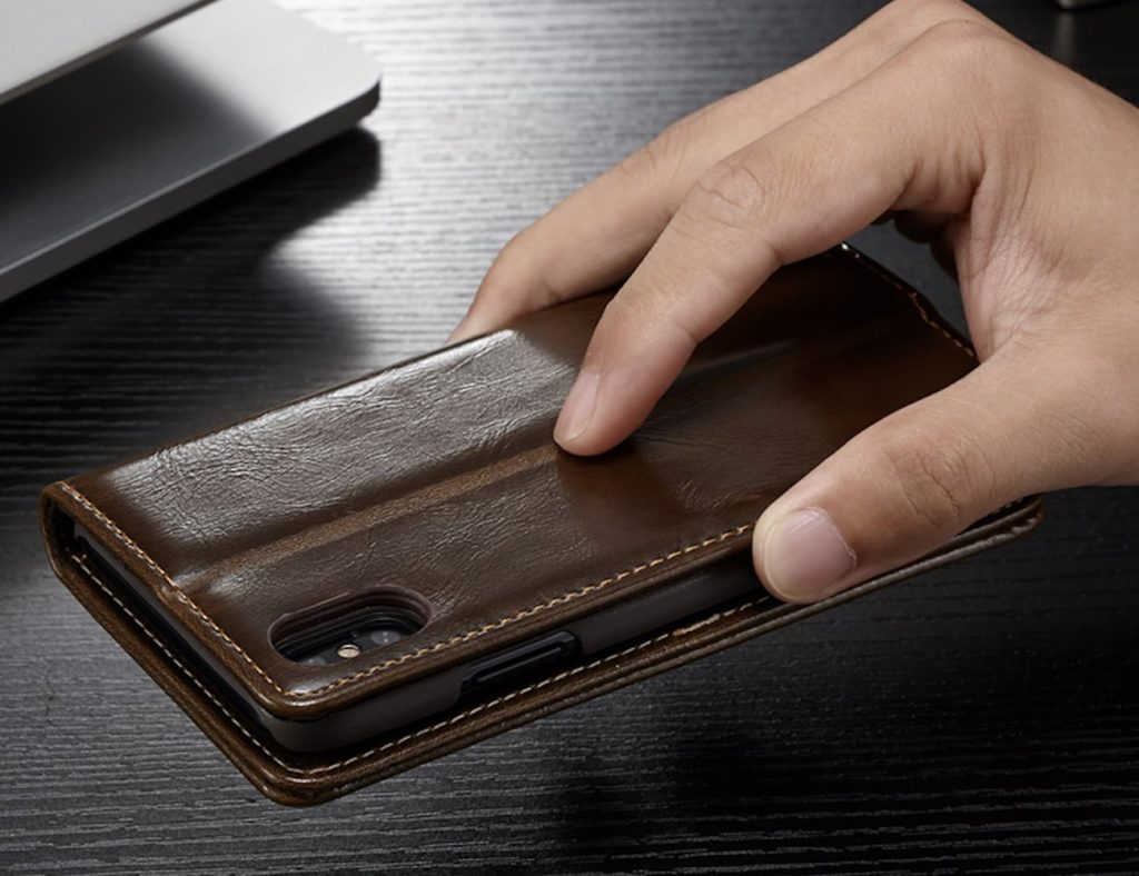 Flip+iPhone+X+Leather+Wallet+Case